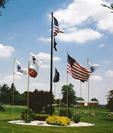 Oak Knoll Entrance Flags